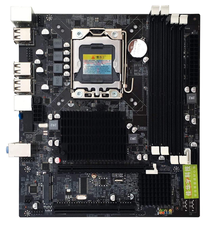 RONSHIN Electrónica Placa Madre X58 LGA 1366 Pin CPU Intel ...