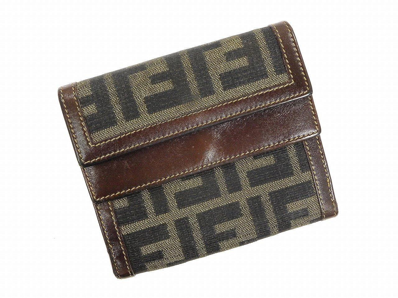 [フェンディ] FENDI 二つ折り財布 ズッカ キャンバス×レザー X10533 中古   B01CJN18QK