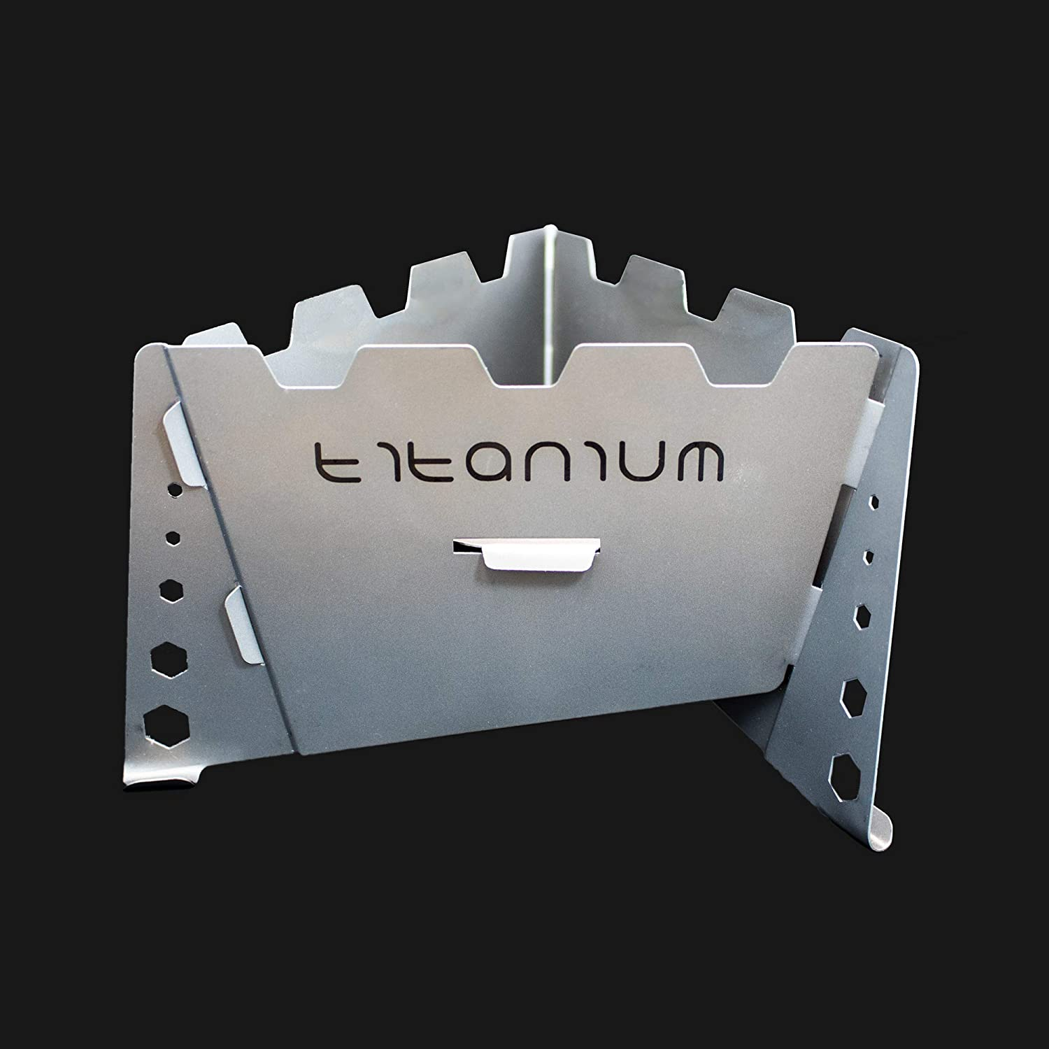 Expedition Research LLC Titanium Solid Fuel Stove – Integrated Wind Shield