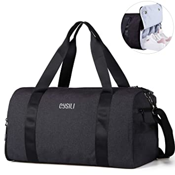 Kleding en accessoires 17 Men/Women Travel  Duffle Duffel Gym Sports Bag Multi-Usage Dark Gray/Black