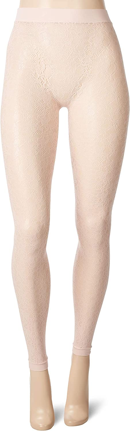DKNY womens Footless Lace Tights Tights