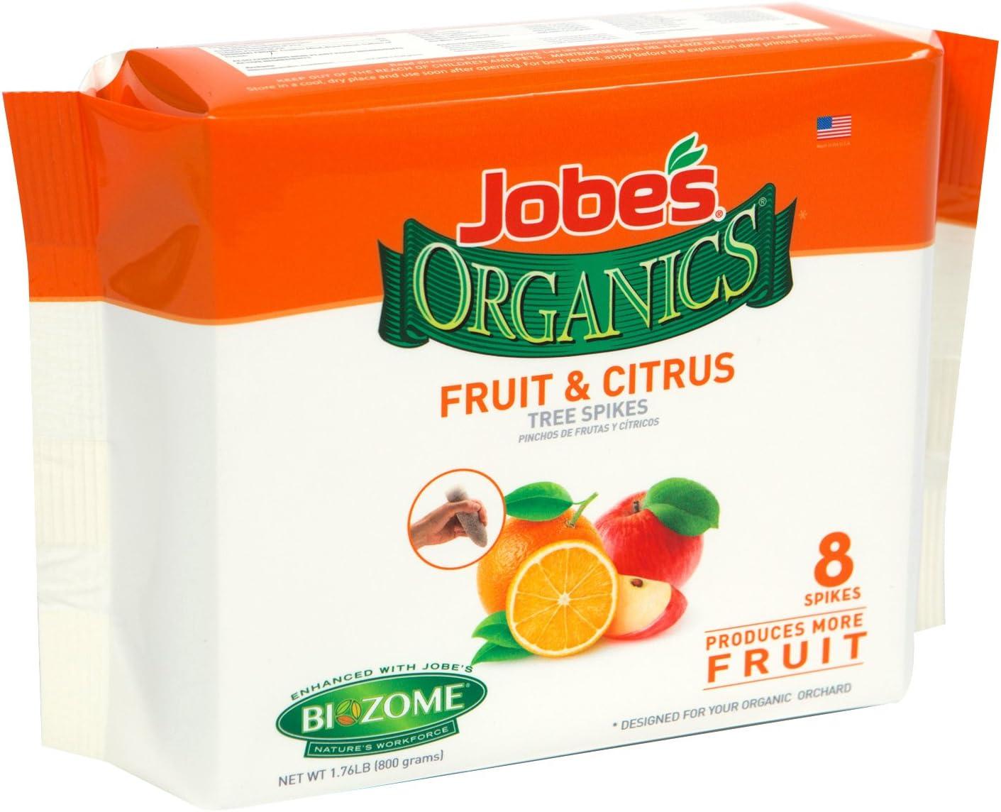 Jobe's Organics - Espigas para árboles de frutos y nueces