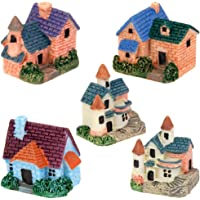 Electomania® 5 Pcs Miniature Bonsai Craft Fairy Garden Landscape European Villa Decor (multicolor)