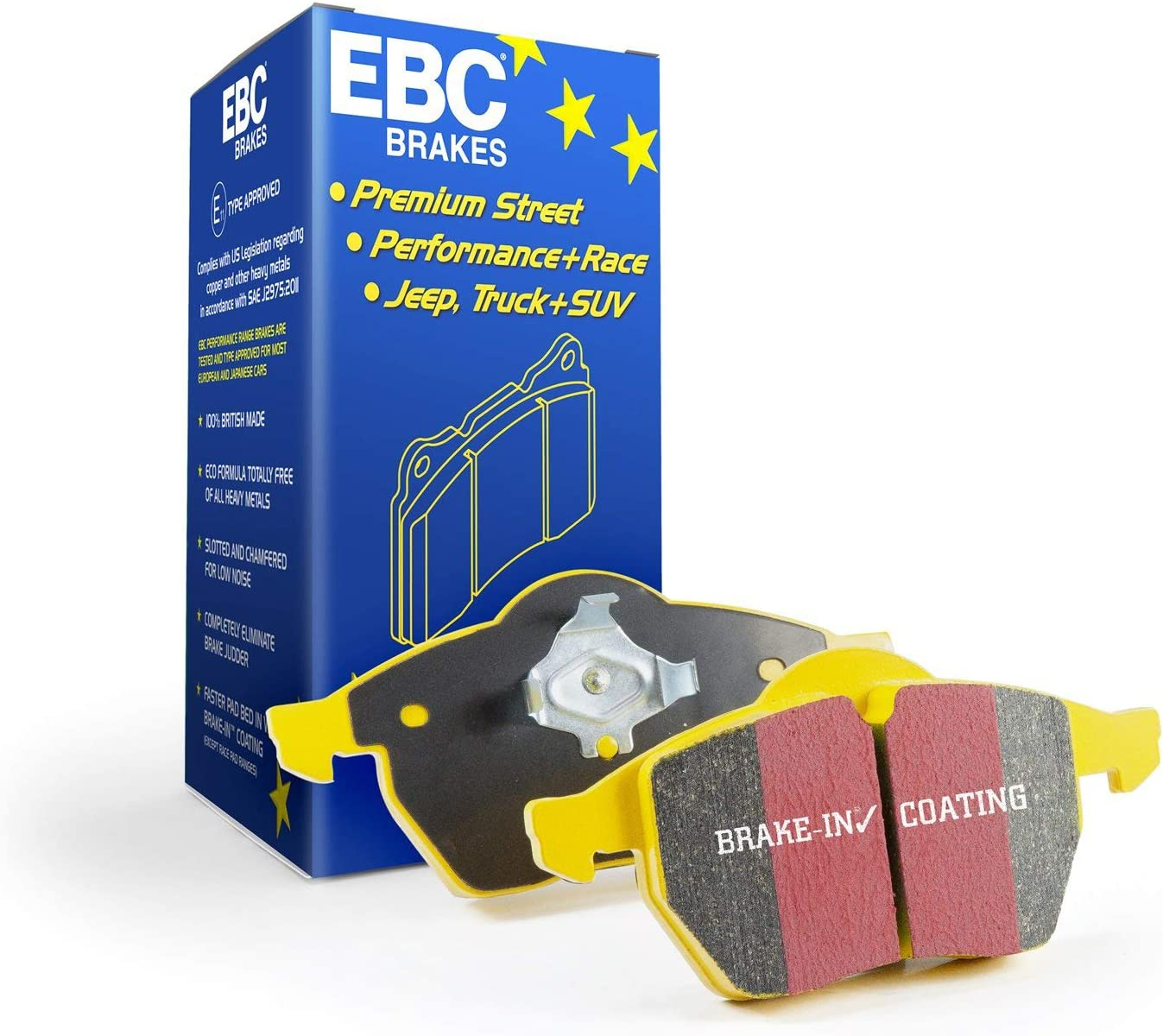 FAST STREET, TRACK, RACE EBC YELLOWSTUFF BRAKE PADS FRONT DP42312R