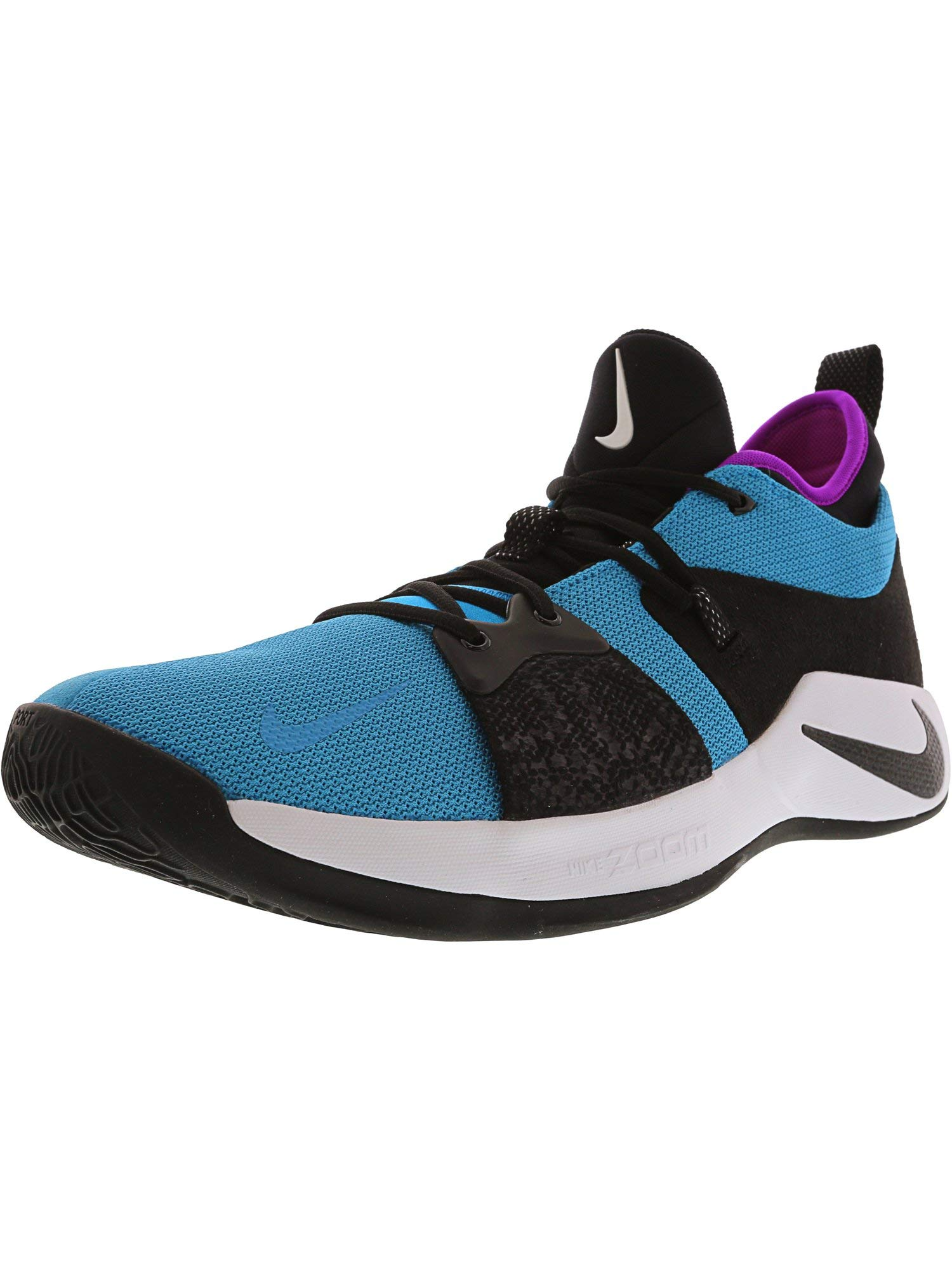 c9f0b62a35d20d Nike Men s Pg 2 Blue Lagoon Black - Hyper Violet Ankle-High Running Shoe 14M