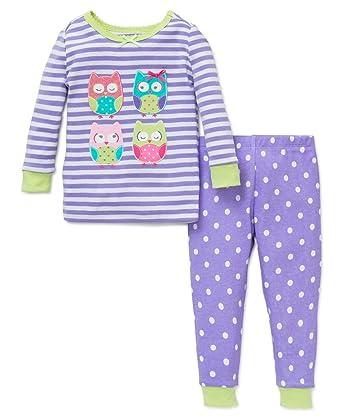 a909976c6 Amazon.com  Little Me Girl s Cotton Purple Owl 2 pc Pajamas  Clothing