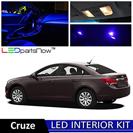 LEDpartsNow 2011 2014 Chevy Cruze LED Interior Lights Accessories  Replacement Package Kit (11 Pieces