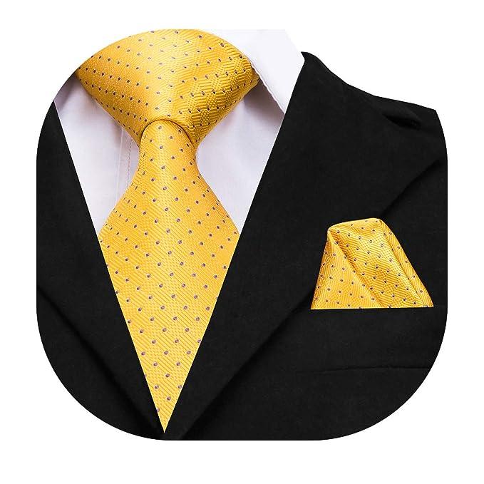 Hi-Tie - Corbata - para hombre Amarillo amarillo X-Large: Amazon ...