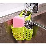 Evana Kitchen Sink Caddy Sponge Storage Hanging Basket Adjustable Snap Button Type Drain Rack Faucet Storage Bag Storage Baskets Tool (Assorted Colour)