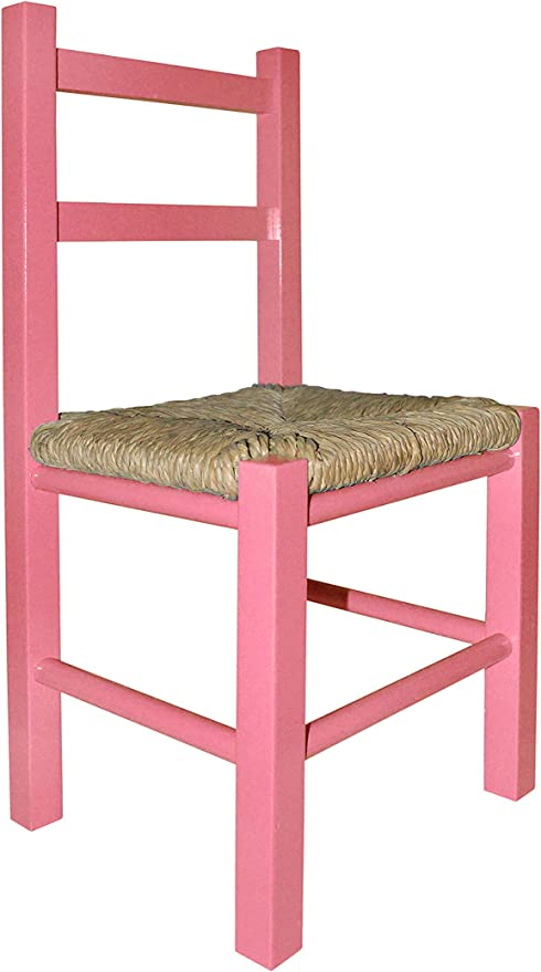 Aranaz- Silla Infantil rústica, Color Rosa (Mueblear SL 22139 ...