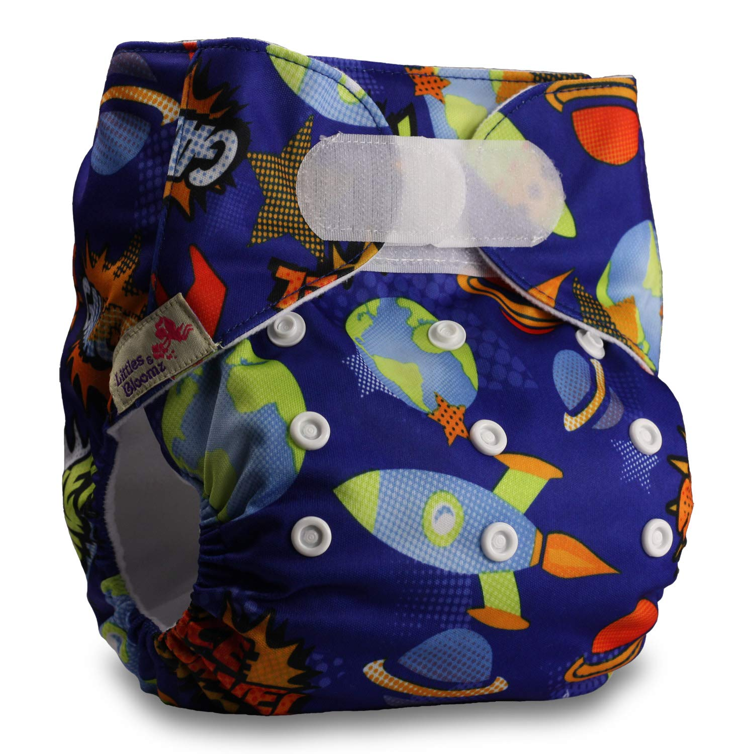 Littles /& Bloomz Without Insert Pattern 25 Set of 1 Fastener: Hook-Loop Reusable Pocket Cloth Nappy