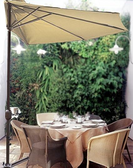 STRONG CAMEL 10' Patio Half Umbrella Wall Balcony Sun Shade Garden Outdoor  Paraso-BEIGE - Amazon.com : STRONG CAMEL 10' Patio Half Umbrella Wall Balcony Sun