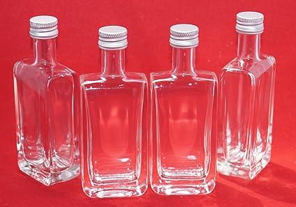 24 botellas vacías Botellas Pequeñas de mini 50 ml Chupito en miniatura botellas Vick STI 5