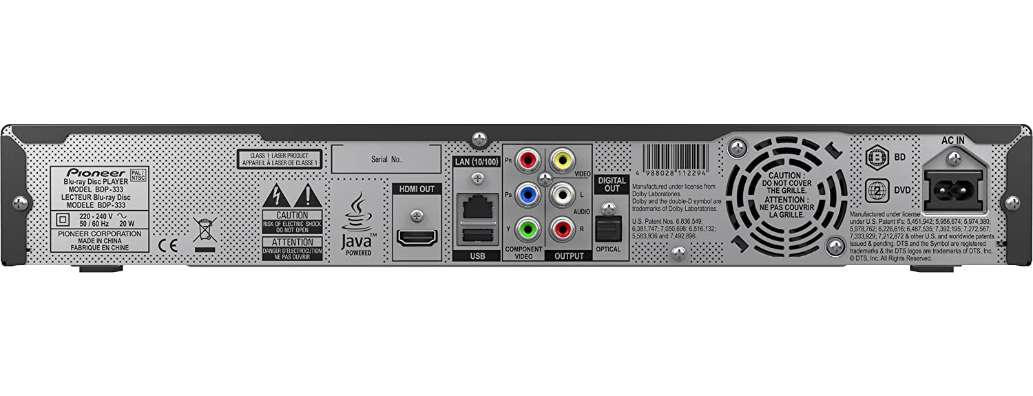 Download Drivers: Pioneer BDP-333 Blu-ray Disc Player