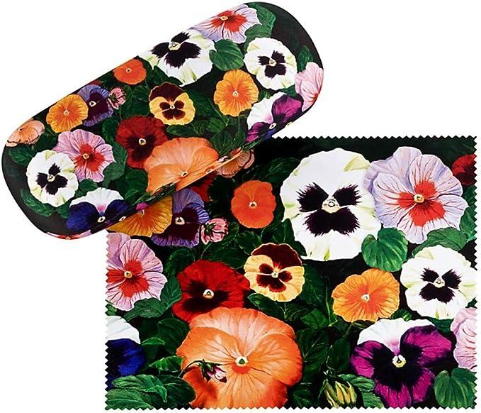 VON LILIENFELD Estuche Gafas Funda Ligeramente Estable Colorido Regalo Mujer Motivo Floral Pensamientos: Amazon.es: Ropa y accesorios