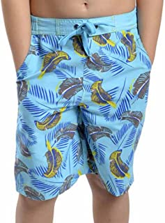 Tom Franks Children Boys Safari Print Swim Shorts Swimming Trunks Beach Pants Surf Holiday Swimwear Light Blue 6 to 7