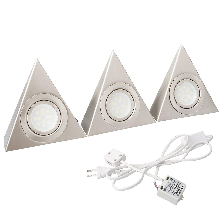 BAYTTER® 2er 3er Set 2,88W LED Dreieckleuchte Unterbauleuchte Pira ...