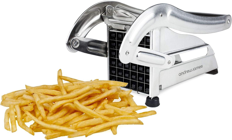 Coupe-frite Andrew James Avec 2 Lames Pour Grosses et Petites Frites