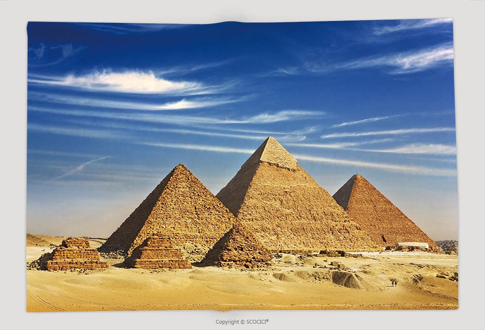 Supersoft Fleece Throw Blanket Egypt Cairo Giza General View Of Pyramids From The Giza Plateau Three Pyramids Known As Queens 96622405 by vanfan