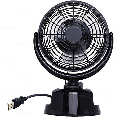 Zone Tech - Ventilador de aire de 12 V para coche y escritorio, 12 ...