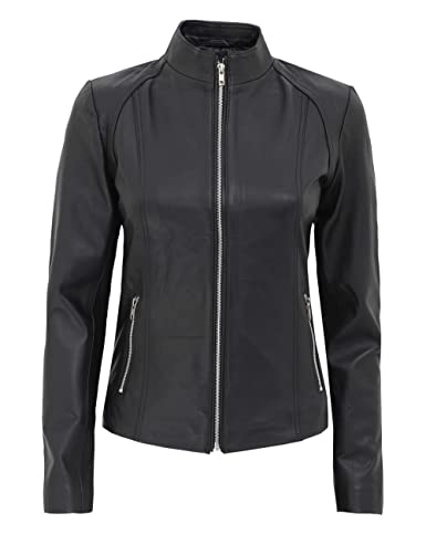 Brown Leather Jacket Women - Genuine Lambskin Black Womens Leather Jacket