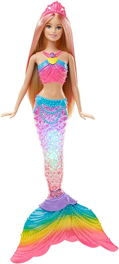 DreamtopiaMuñeca Sirena De esBarbie Luces Amazon Arcoíris PnwkN8O0X