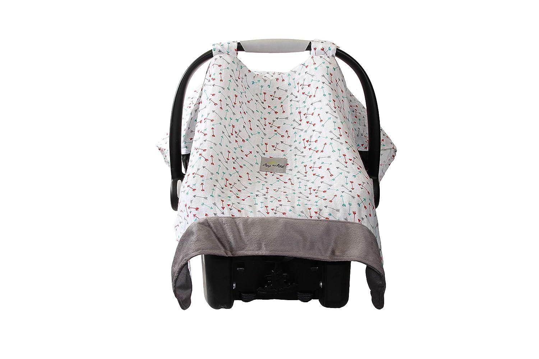 Itzy Ritzy Cozy Happens Muslin Infant Car Seat Canopy Flying Arrows