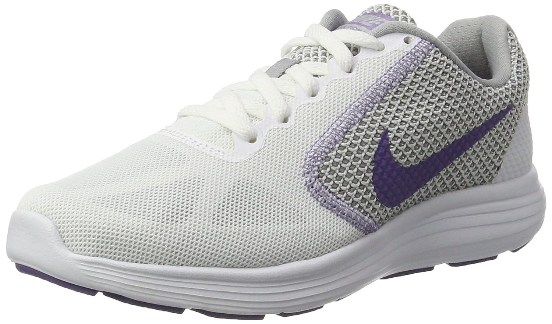 NIKE Women's Revolution 3 Running Shoe B003686Q1U 10 B(M) US|White/Purple Earth/Wolf Grey