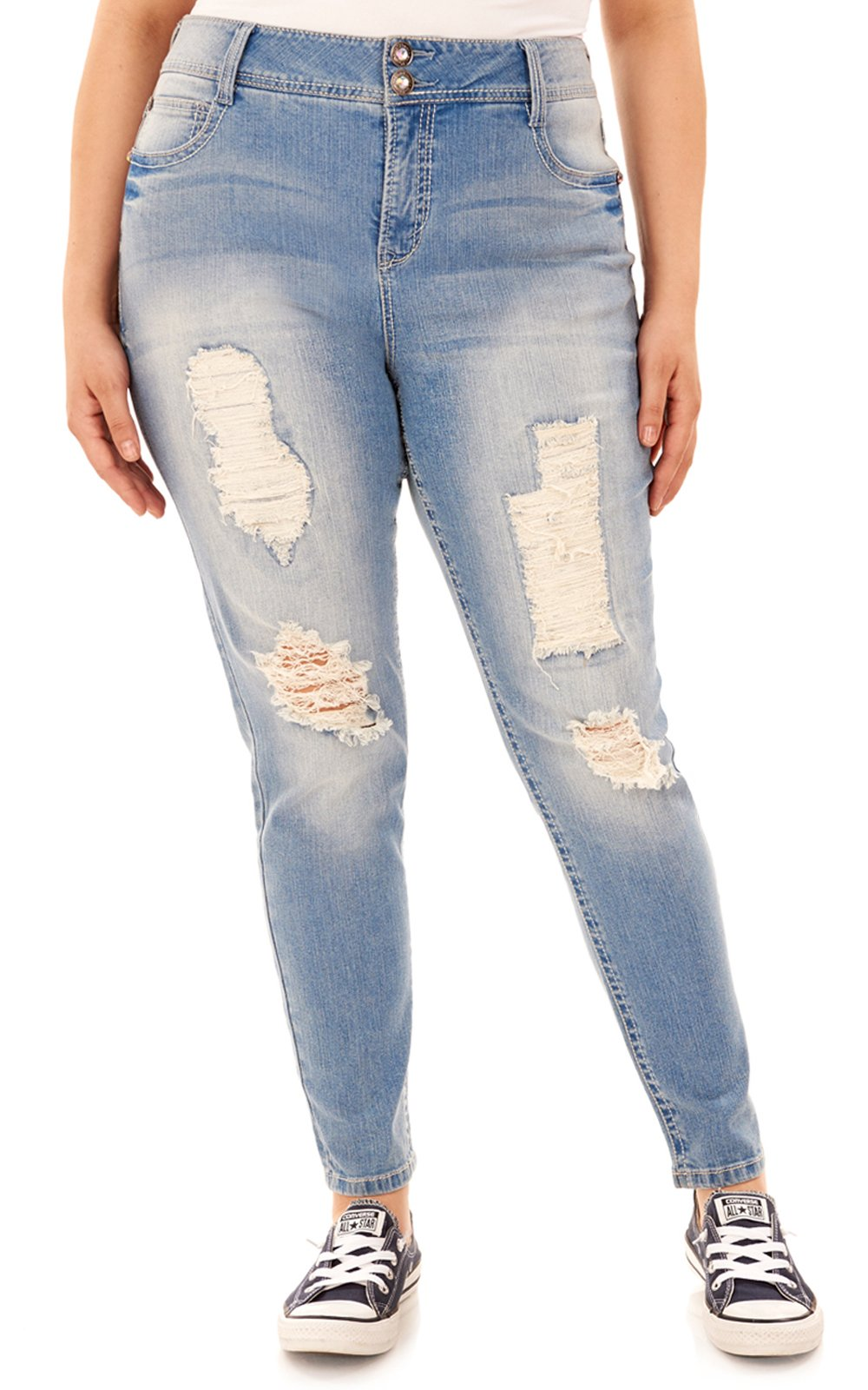 WallFlower Plus Size Luscious Curvy Bling Bootcut Jeans in Fern, 20 Plus