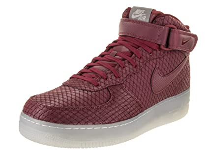 buy popular 98237 f5ae6 NIKE Men's Air Force 1 Mid '07 LV8 Team Red/Team Red White Basketball Shoe  8 Men US