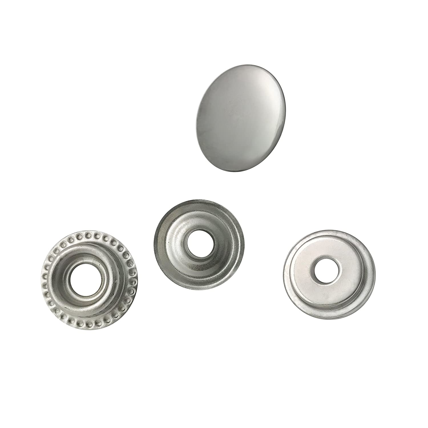 80 Pieces Stainless Steel Fastener Snap Set, Include Button Stud Socket and Eyelet, Marine Grade, 5/8 Inch Cap by WORLD 9.99 MALL