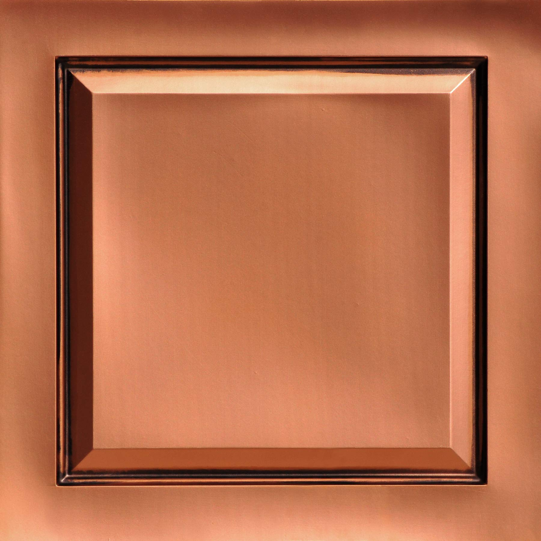 From Plain To Beautiful In Hours 505ac-24x24-25 Raised Panel Ceiling Tile Antique Copper 25