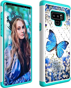 Galaxy Note 9 Case, Dooge Bling Sparkly Diamond Case Dual Layer Full Body Armor Defender Anti-Scratch Shockproof Protective Rugged Holster Case for Samsung Galaxy Note 9