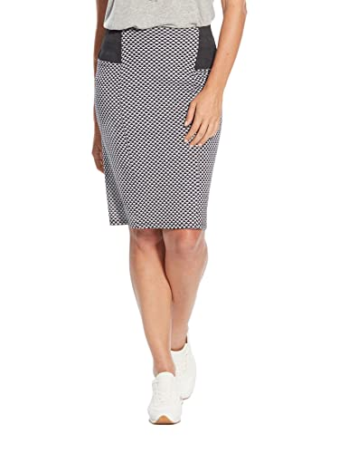 Balsamik - Falda corte vientre plano - Mujer - Size : 48 - Colour : Jacquard negro / crudo