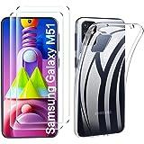 جراب ELTD لهاتف Samsung Galaxy M51 مع واقي الشاشة 【عبوتان】، غطاء ناعم شفاف كريستالي رقيق مضاد للاصفرار مع مقاوم للخدش…