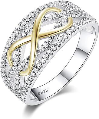 CDE Damen Ringe Infinity Herz Frau Ring Sterling Silber 925