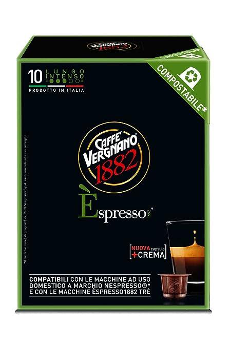 4 opinioni per Caffè Vergnano 1882 Èspresso1882 Lungo Intenso- 10 Capsule- Compatibili