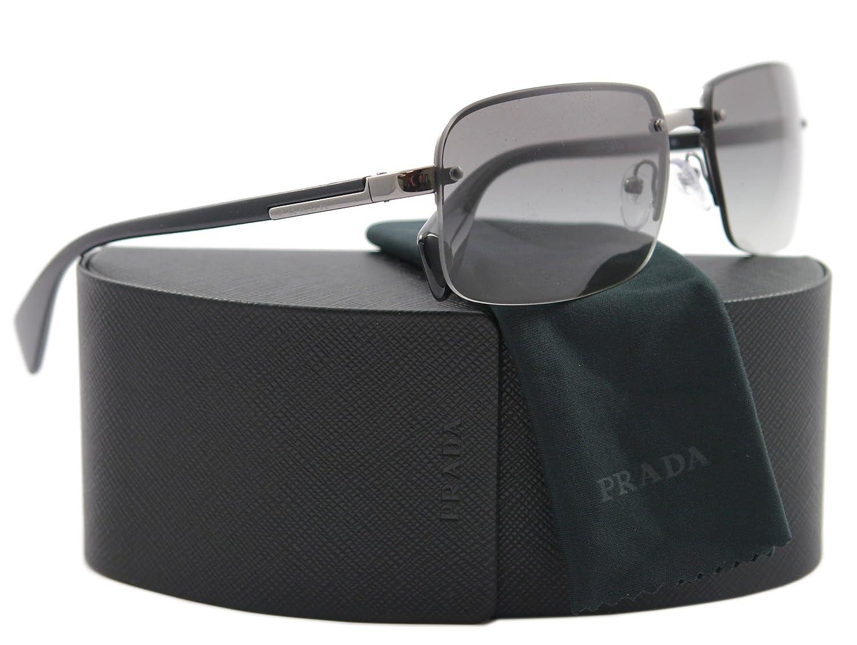 Amazon.com: Prada anteojos de sol SPR 61 N Black 5 AV-3 M1 ...