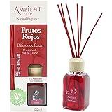 Ambientair Aromatizante Frutos Rojos, difusor de Varillas sin Alcohol, ambientador Mikado con Varillas de ratán, aromatizante