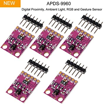 Makerhawk 5pcs Sensor infrarrojo de Gestos Infrarrojos, GY-9960-3.3 APDS-9960