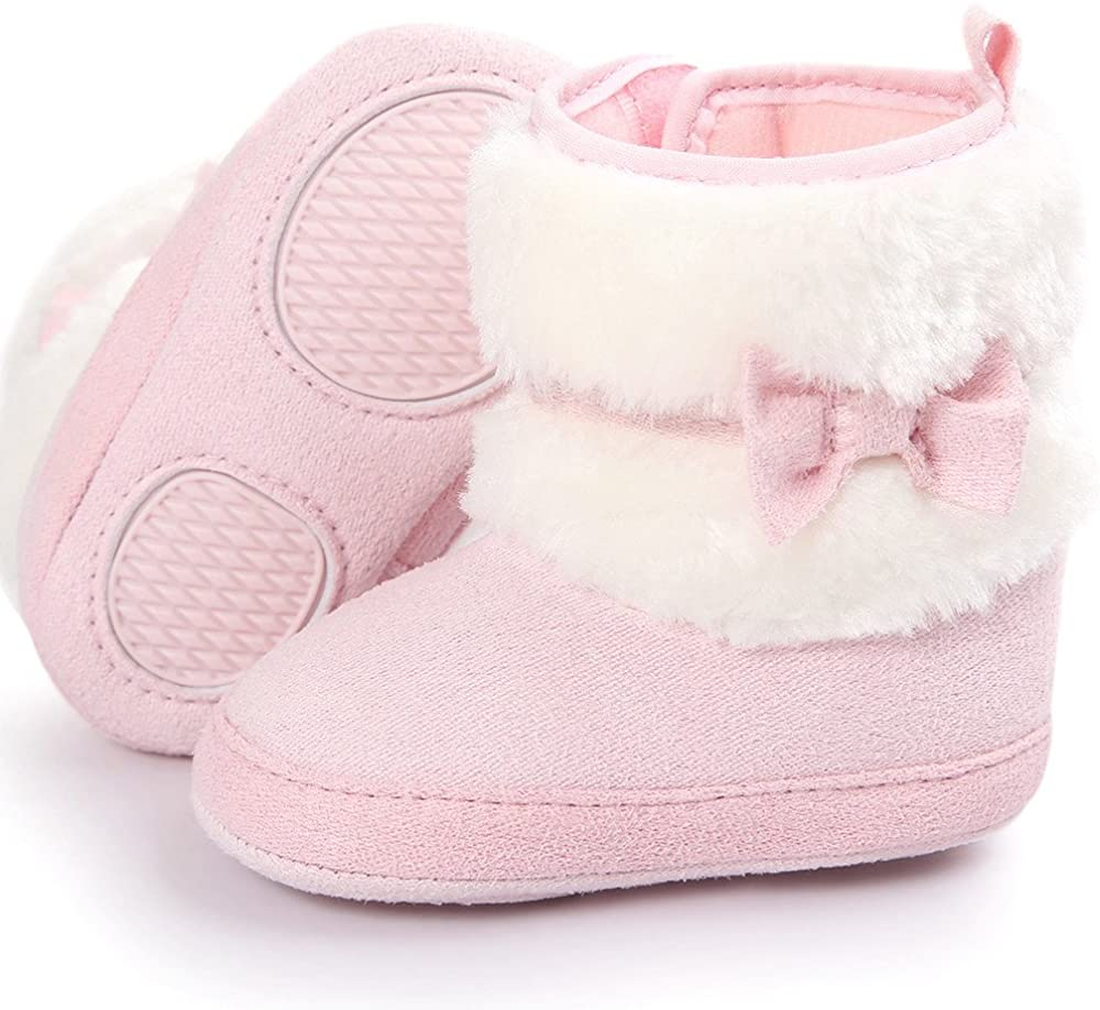 Vovotrade Cute Newborn Baby Cartoon Duck Warm Winter Shoes Soft Sole Toddler Shoes