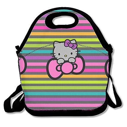 dda0774df3 Amazon.com - LIUYAN Personalized Portable Lunch Bag Rainbow Hello ...