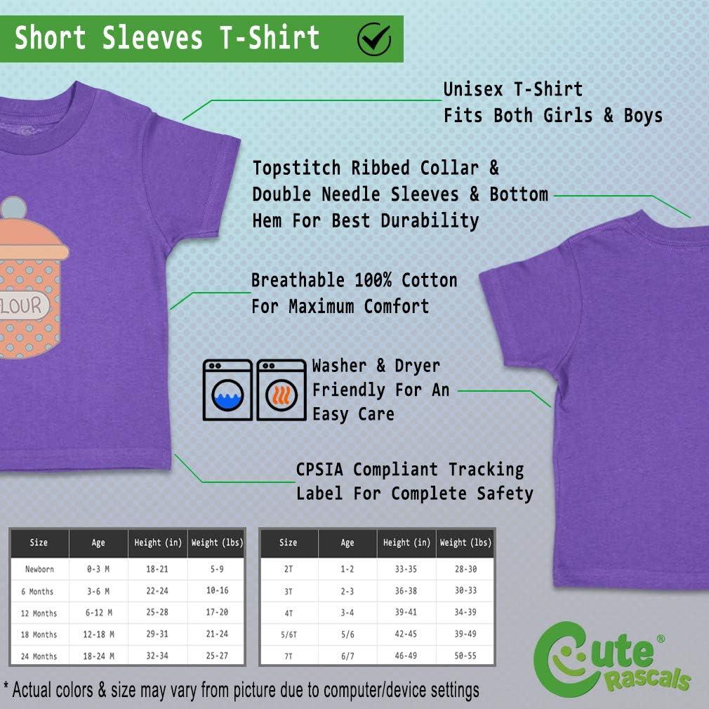 Custom Baby /& Toddler T-Shirt Flour Jar Blue Orange Cotton Boy Girl Clothes