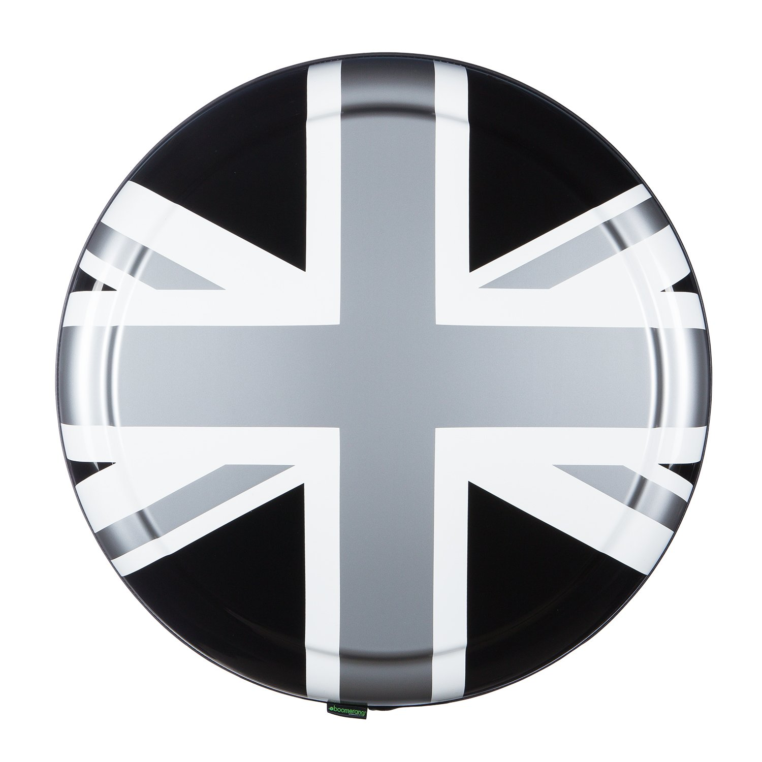 35'' Rigid Tire Cover - (Hard Plastic Face & Vinyl Band) - Pewter Union Jack by Boomerang (Image #2)