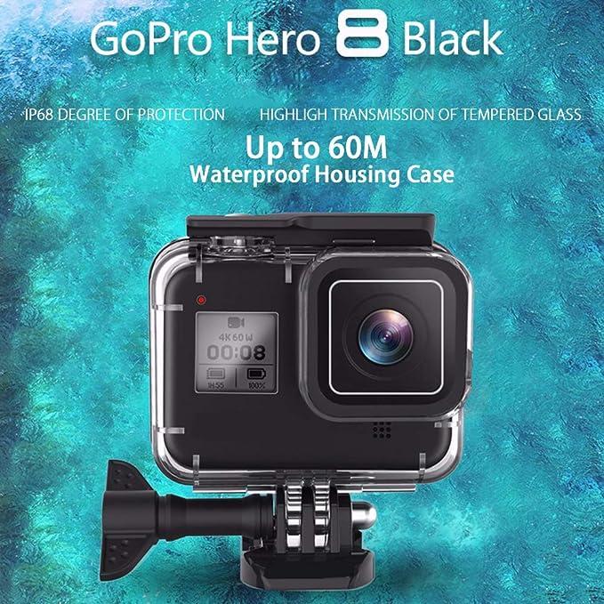 Amazon.com: Vicdozia - Carcasa impermeable para GoPro Hero 8 ...