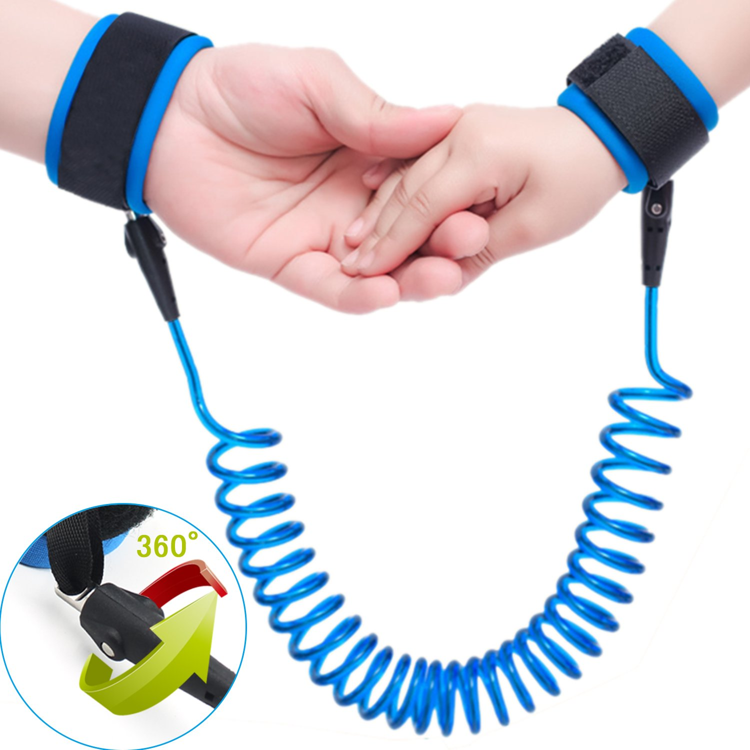 Topsky Anti Lost Wrist Link safety Velcro strap Leash Walking Hand Belt for Toddlers, Kids and Babies (1.5m ) (blue)
