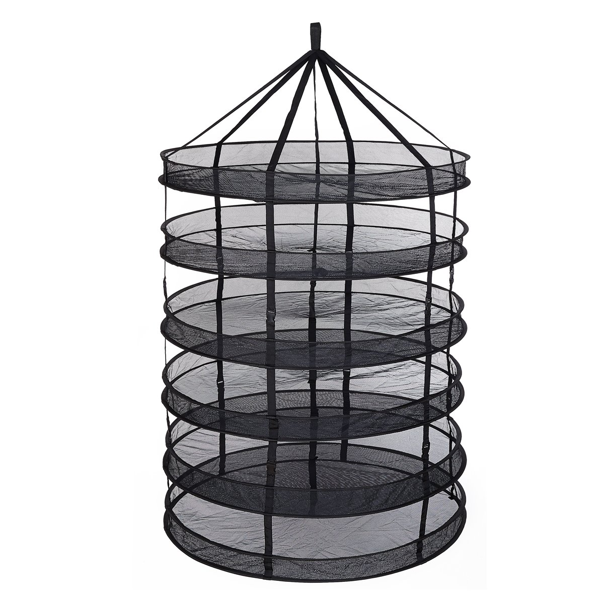 TopoGrow 6- Layer Black Mesh Hanging Herb Drying Rack Dry Net for Storage Drying Seeds (3FT 6-Layer) by TopoGrow