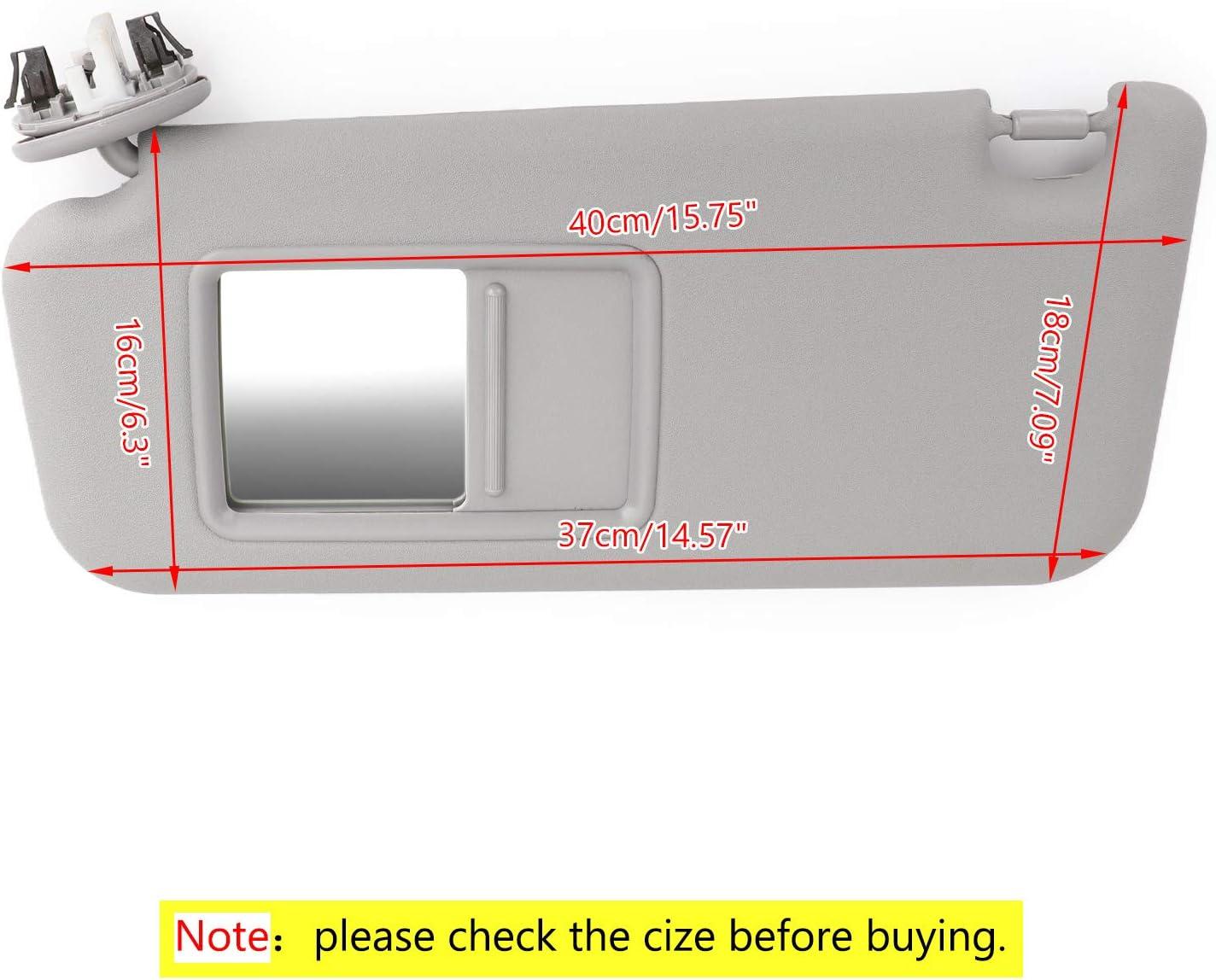 Bruce /& Shark Driver Side Sun Visor for Toyota RAV4 2006-2009 74320-42501-B2 Gray