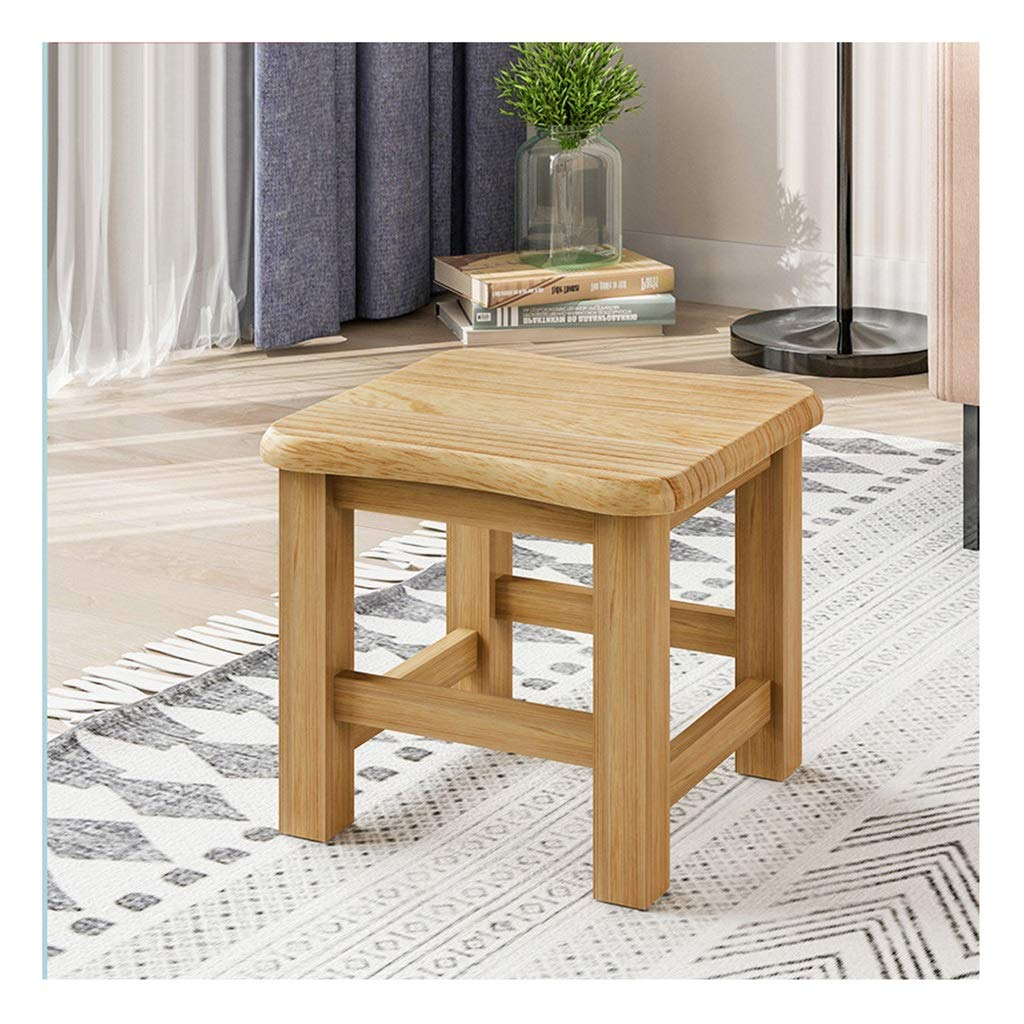 B Wooden Chair Footstool - Wooden Dining Stool - Sofa Stool - Household Change shoes Bench Fit for Kitchen, Garden, Living Room (color   B)