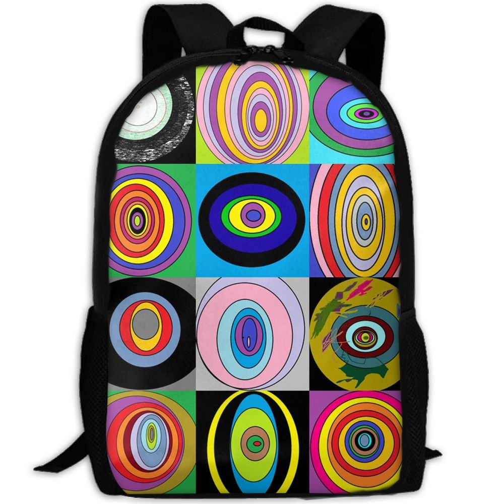 outlet Colorful Circles Dazzling Luxury Print Men And Women's Travel Knapsack